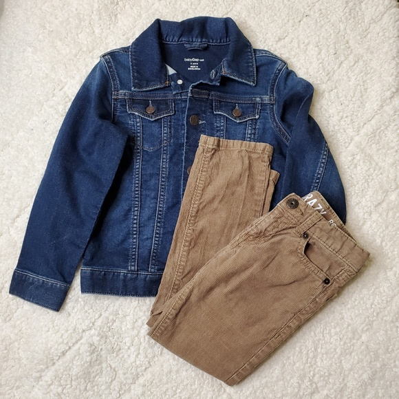 Blue and Beige Brown NWT GAP BOYS FIVE-POCKET CORDUROY PANT sizes in Green